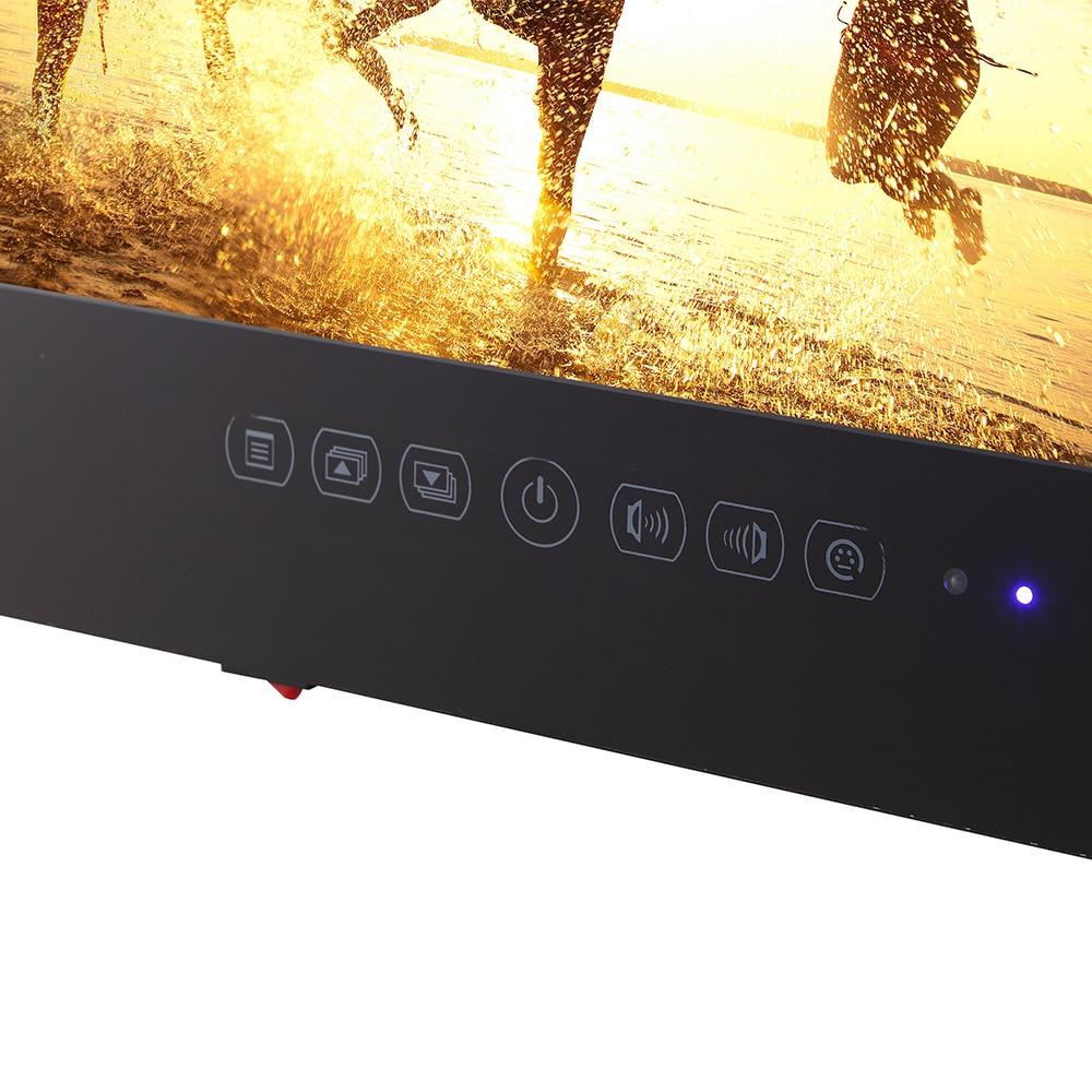 Souria 15.6 inch HD Black Bathroom Frameless IP66 Waterpoof LED TV (ATSC/DVB-T T2) USB Ports Mini Televisions