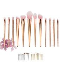 12PCS Set Powder Foundation Makeup Brushes Set Pro Eye Shadow Eyebrow Blush Contour Lip Brushing Brushes