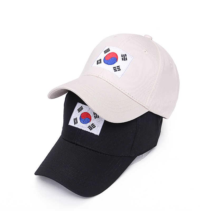 af354b53d9a VORON Hot Sale Summer New Hip Hop Cap Korea Ulzzang Harajuku Flag  Embroidery Snapback Hat For