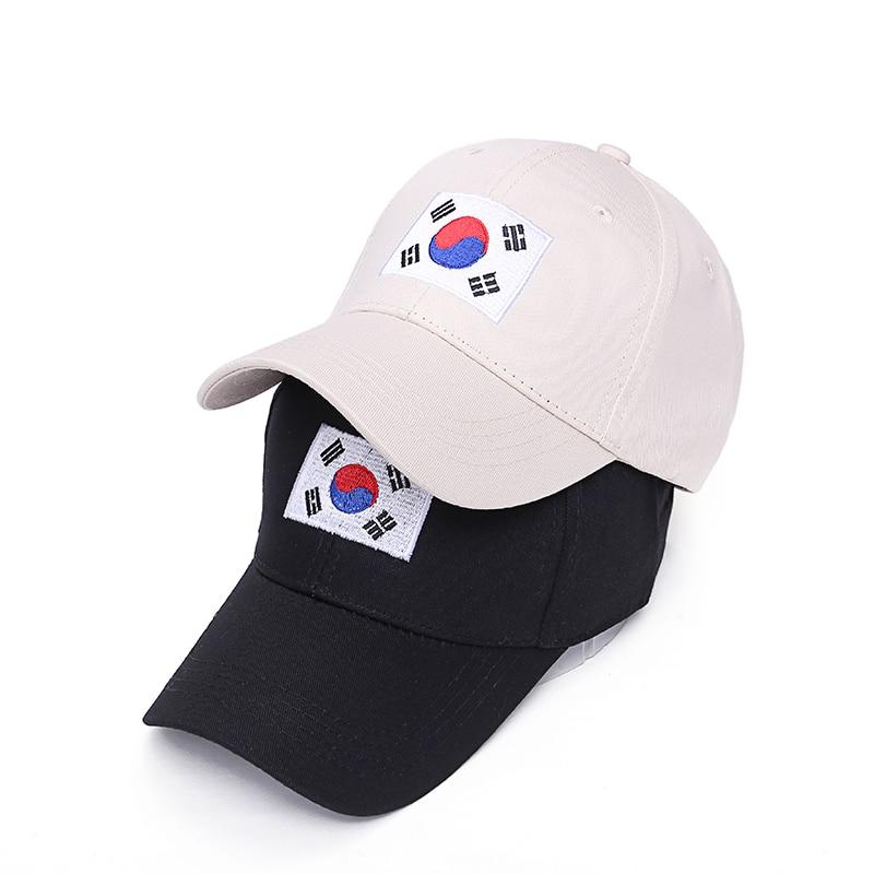 50374b01d9e VORON Hot Sale Summer New Hip Hop Cap Korea Ulzzang Harajuku Flag  Embroidery Snapback Hat For Men Women Baseball Caps