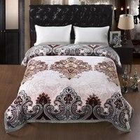 4,3 кг зимнее одеяло Рашель одеяла 2 слоя двухслойные Покрывало Полиэстер Мягкие статические Бесплатные одеяла бросает в Китайский тяжелый