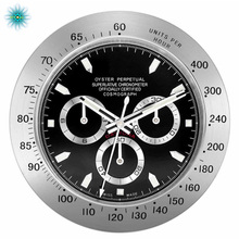Silver Black Metal Streel Wall Watch Clock Wristwatch Best Gift For Home Decoration все цены