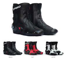 Waterproof motorcycle boots Speed Moto Motocross scoyco Leather Pro-biker Shoes  bota motociclista Racing Boots for 40-45