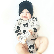 TinyPeople 2019 Pole Bear Long Sleeve baby Bodysuits Newborn Spring Cotton Girls Boys Clothes Kids Baby Outfits Jumpsuit