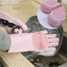 NewKitchen Silicone Cleaning Gloves Magic Dish Washing For Household Scrubber Rubber Dishwashing