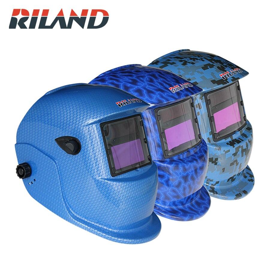 RILADN Solar Pro Auto Darkening Welding Helmet Arc Tig Mig Protect Grinding Welder Mask X701D Welding/Grinding Helmet Mask Hood цена