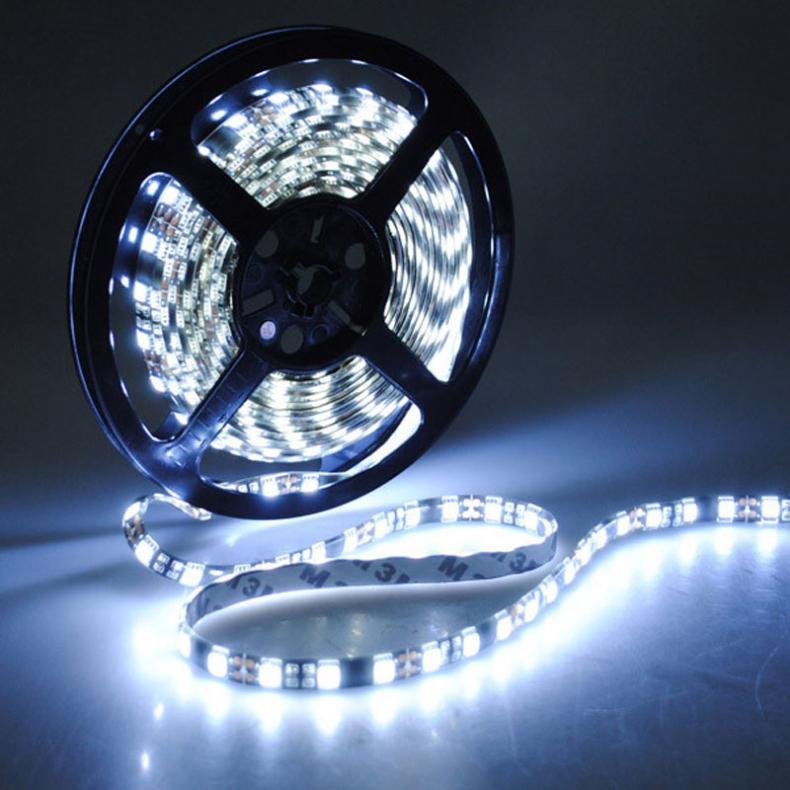 Водонепроницаемый IP65 5 М 5050 SMD Светодиодные ленты свет Чистый Белый Свет 300 светодиодный s DC12V лампы строка