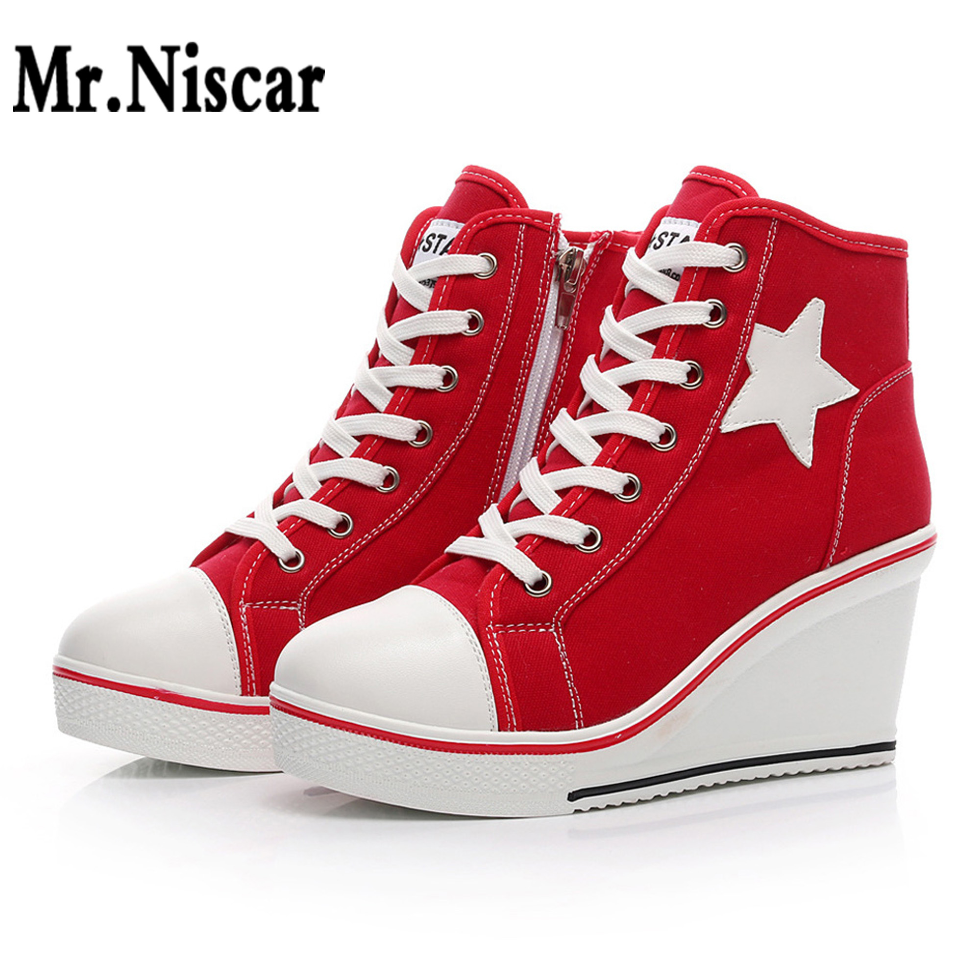 Fashion Unisex High Top Canvas Lace Up Skate Shoes Classic Comfy Round Toe Lace Up High Top Canvas Lace Up Sneakers Mr
