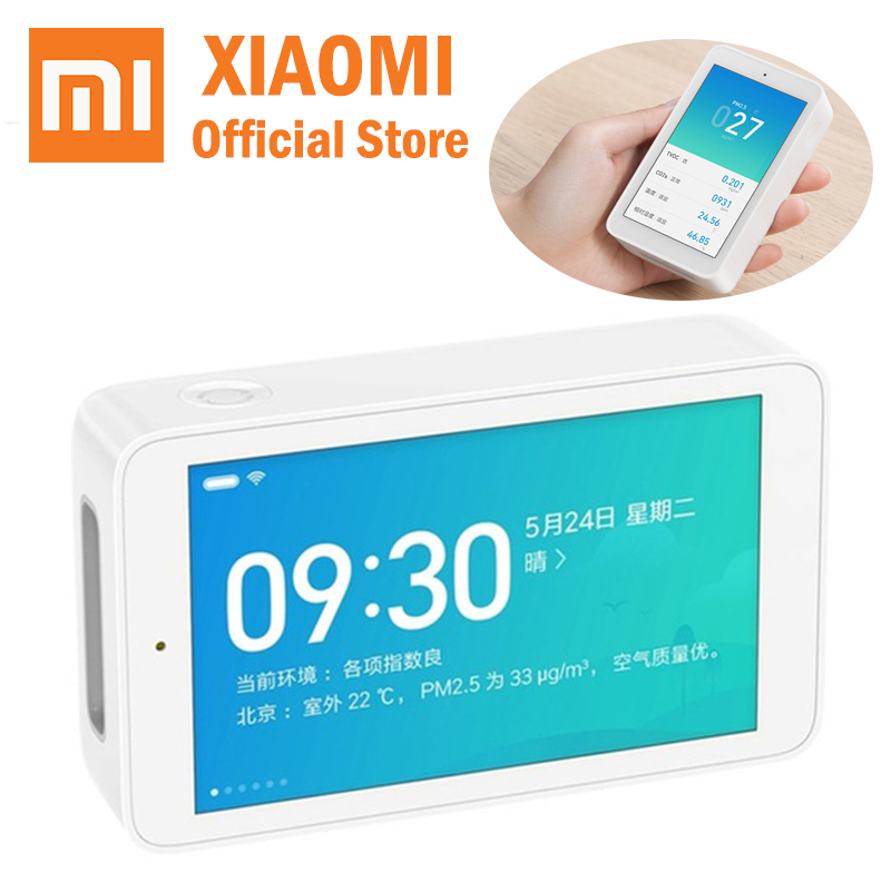 Xiaomi Mijia Air Detector High Precision Sensing 3 97Inch Touchscreen USB Interface PM2 5 CO2a TVOC