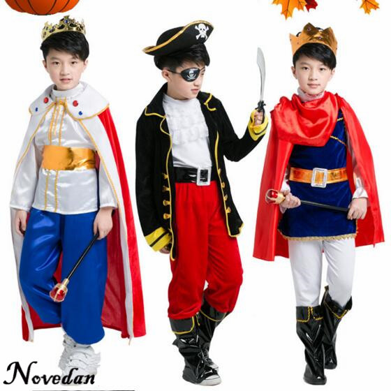 Halloween Child Costume Boy King Prince Pirate Costume Kids Clothes Set Outfit Party Cosplay Costume