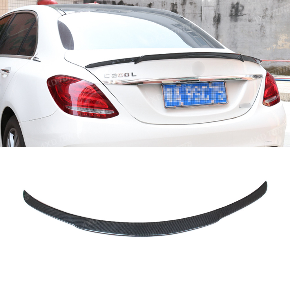 For Mercedes C Class C180 C200 C250 C260 W205 Carbon Fiber Rear Spoiler Rear Trunk Wing For Brabus Style Sedan 2014 2015 2016-UP for mercedes w205 spoiler r style sedan c class c180 c200 c250 c260 w205 carbon fiber rear spoiler rear trunk wing styling 2014