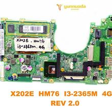 Дизайн для ASUS X202E Материнская плата ноутбука X202E HM76 I3-2365M 4 Гб REV 2,0 испытанное хорошее