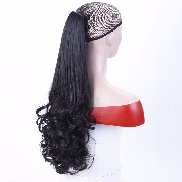 22-inch long curly hair wig extended perspective for ladies 3