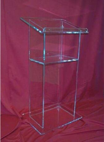 Logo Customize Hot Sale Acrylic Lectern Lucite Church Podium Transparent Pmma Pulpit Glass Pulpit Church Acrylic Podium