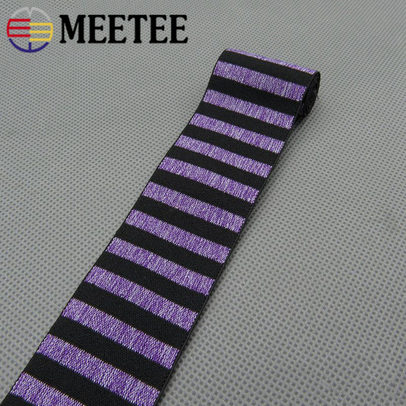 2Meters Stripe Elastic Bands 40mm Elastic Webbing Ribbbons Clothing Bags Trousers Elastic Rubber Webbing DIY Sewing Accessories in Elastic Bands from Home Garden