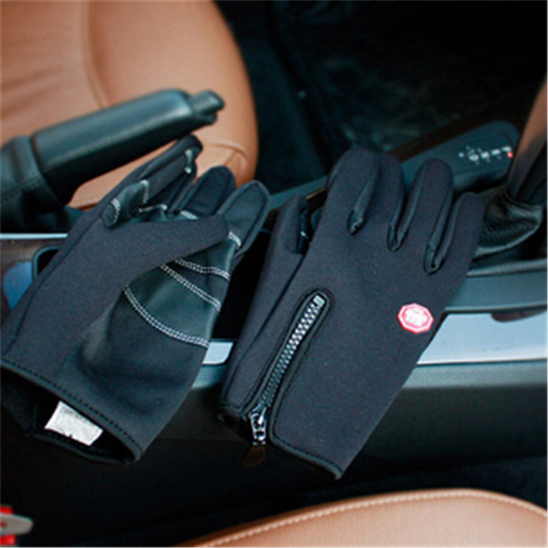 Windstopers Gloves Anti Slip Windproof Thermal Warm Touchscreen Glove Breathable Tactico Winter Men Women Black Zipper Gloves 32