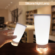 White USB Lamp Silica Gel Led Night Light Soft Touch Decorative Lamp WC Light Portable Night Lamp for Bedroom Baby Room