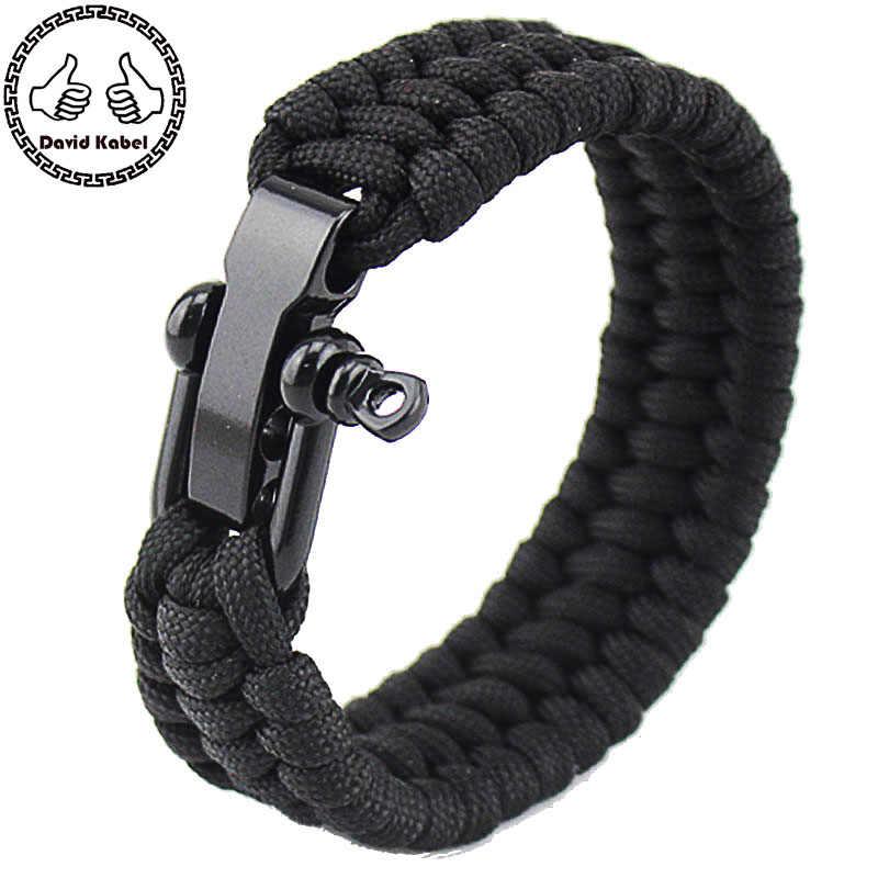 Survival Black Trilobite Paracord Bracelet Hiking Great for Backpacking