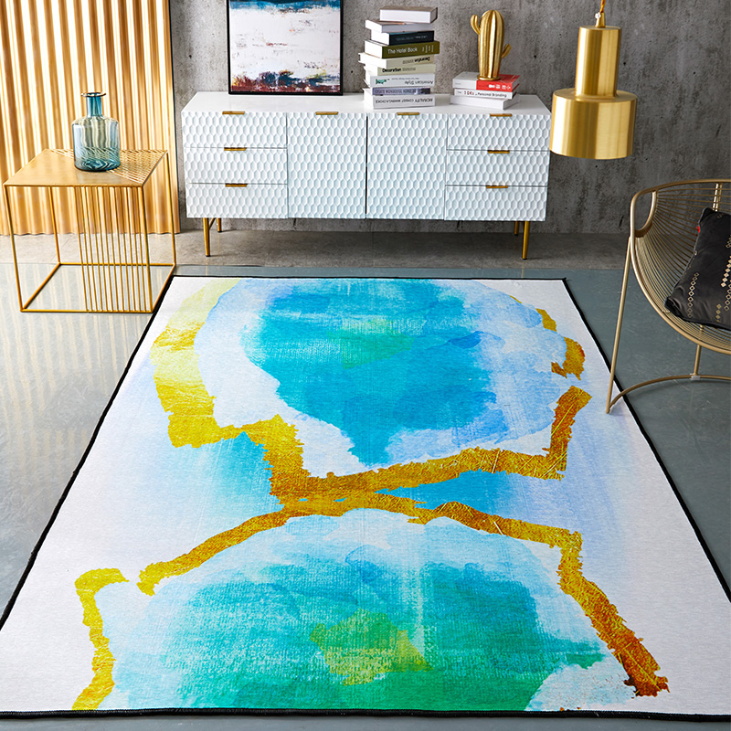 Nordic INS abstract world large carpet home bedroom bedside entrance elevator floor mat sofa coffee table anti slip carpet image