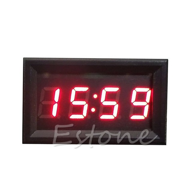 Hot Sale LED Display Digital Clock 12V/24V Dashboard Car Motorcycle Accessory 1PC