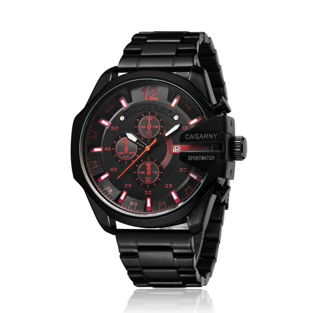 top luxury brand cagarny quartz watch for men gold steel band waterproof dz military Relogio Masculino mens watches drop shipping clock man cheap price (41)