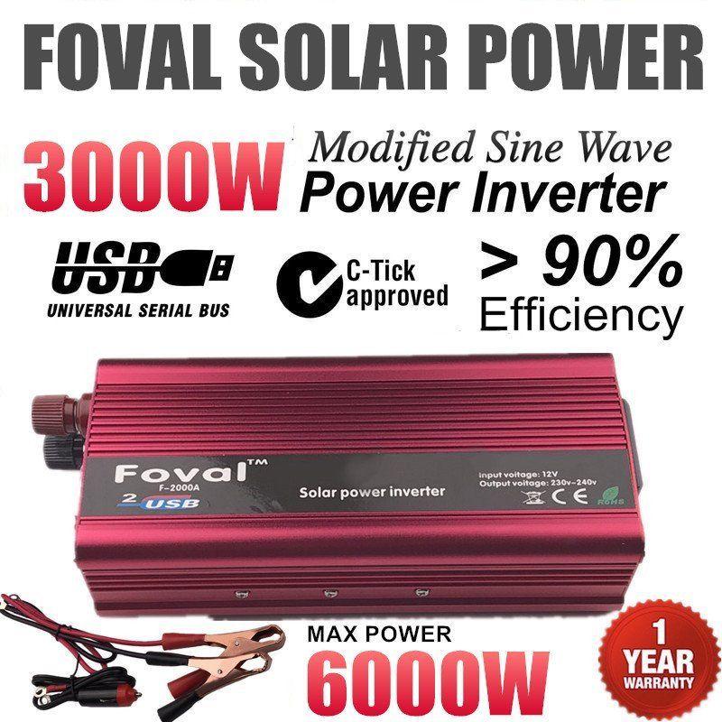 6000 Вт Max автомобиль Мощность инвертор DC12V к AC220V Алюминий сплав Dual USB конвертер Высокое преобразования конвертер