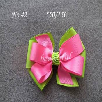 "200 BLESSING Good Girl Boutique 4"" Double Abby Hair Bows Clip 270 No."