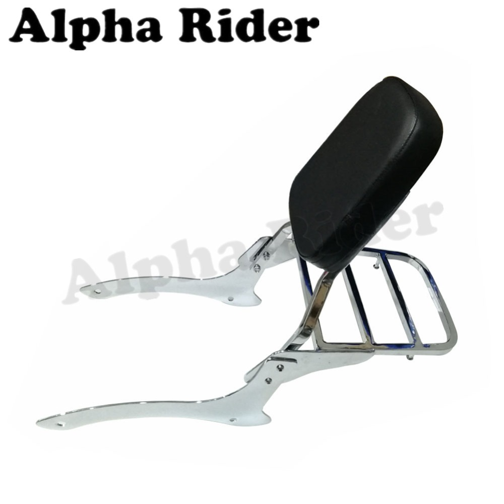 Rear Luggage Rack Support Saddlebag Cargo Shelf Bracket w/ Detachable Backrest for Yamaha Vstar V-Star DragStar 1100 XVS1100 corona processor shelf corona treatment 1100 film impact machine shelf the shelf the width the electric airsick discharge rack