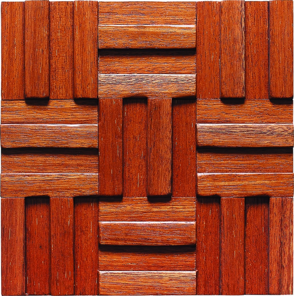 Tile online Wooden Tiles Mosaic Rustic Style Gorgeous Wall Deco For ...