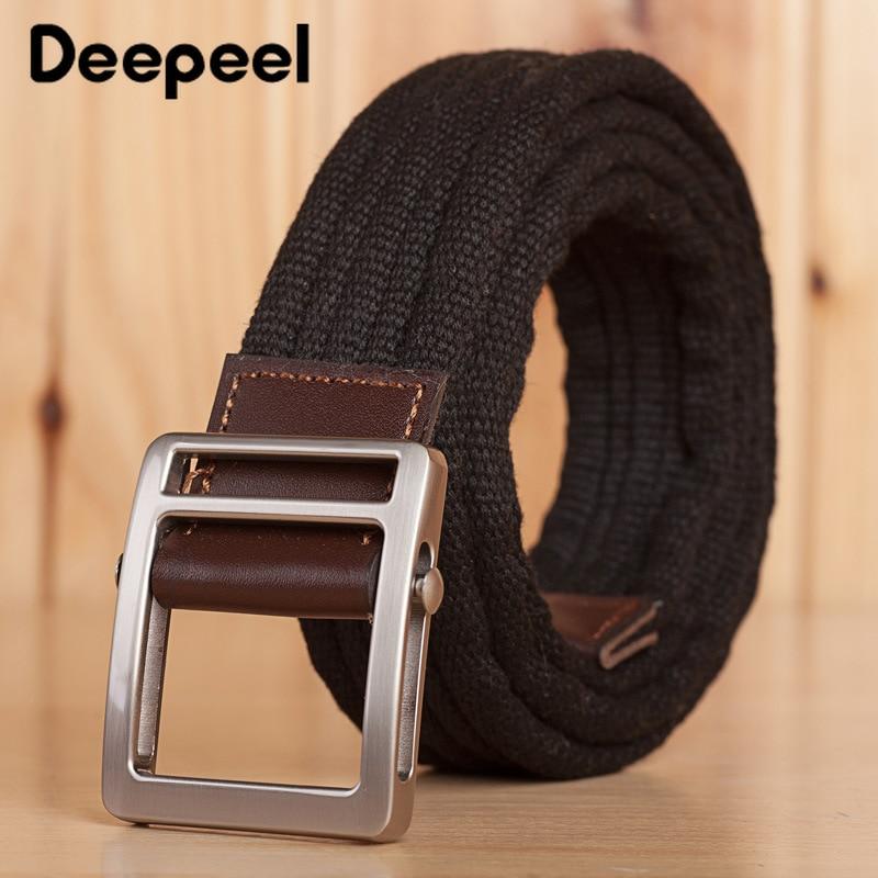 Cinturón de lona y cuero artesano.
