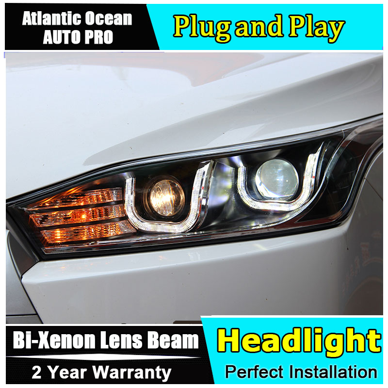 Auto Lighting Style LED Head Lamp for Toyota YARiS L led headlights 2014-2016 double U led HID KIT Bi-Xenon Lens low beam auto part style led head lamp for benz w163 ml320 ml280 ml350 ml430 2002 2005 led headlights drl hid bi xenon lens low beam