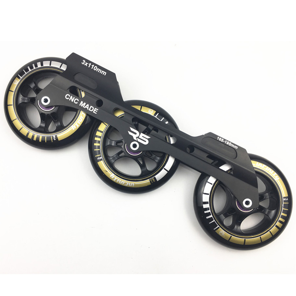 Speed Inline Skates Base 3*110mm Frame Powerslide Infinity Wheels Roller Skating Basin ILQ-11 Bearing Durable 85A Patines Tires slalom fsk inline skates patines for adults daily skating sports with 85a pu wheels abec 7 bearing aluminium alloy frame base