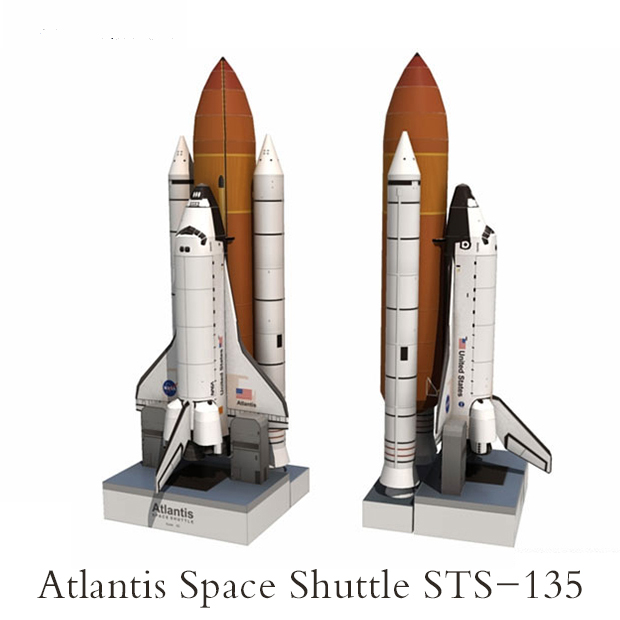 Bright White Spaceship Model Spacecraft Model Decor Model Space Shuttle Model Practical Novelty Toys & Hobbies