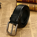 Brnad men belt cowskin leather belt for men fashion designer belt black brown pin buckle belts big size for sell