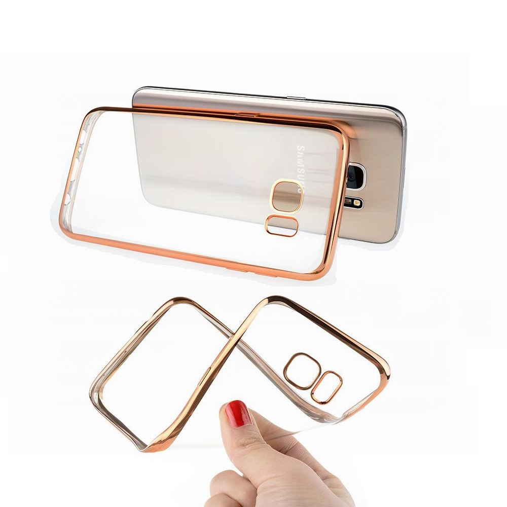 1000Pcslot Ultra thin Luxury Plating Bumper Transparent TPU Cover Case For samsung Galaxy S9 S8 S7 S6 EDGE Plus NOTE 8 7 5