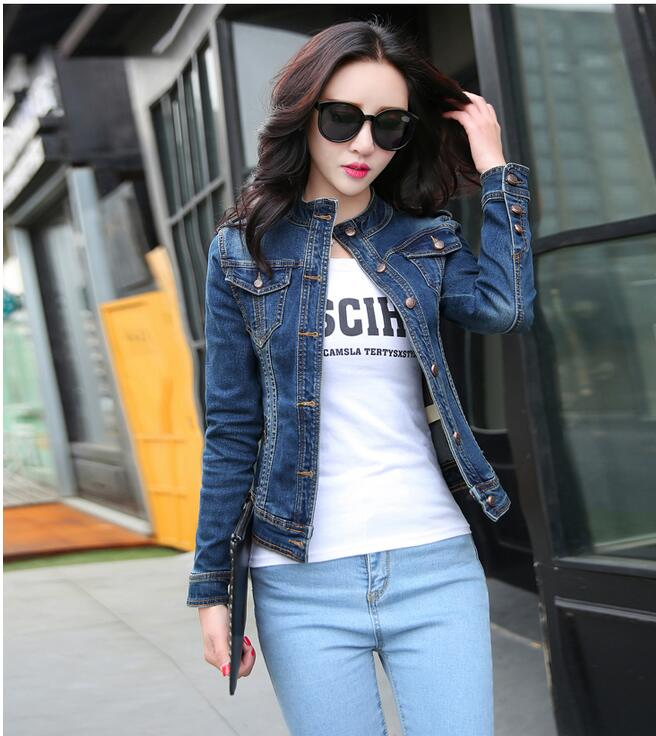 JOYINPARTY 2017 New fashion Arrival women denim   jackets   vintage casual coat female jean   jacket   for outerwear women   basic   coats