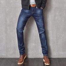 Оптом Модные Мужские Джинсы Бренд Высокого Качества Твердые Узкие Джинсы Мужская Мода Синий Байкер Джинсы Для Мужчин Джинсы Homme