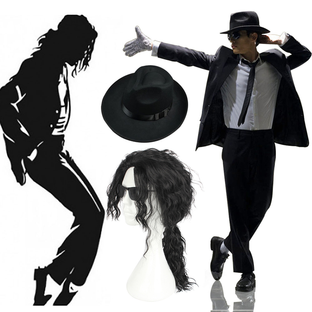 Michael Jackson Costume Adult Black Jacket Suit with Gangster Hat Accessory Halloween Fancy Dress Performance Clothing  sc 1 st  AliExpress.com & Michael Jackson Costume Adult Black Jacket Suit with Gangster Hat ...