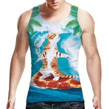 Funny Vest Men's Tank Tops Workout Sportswear Summer 3D Cat Animal Pattern Print Sleeveless Vest Fitness Tank Tops Tees