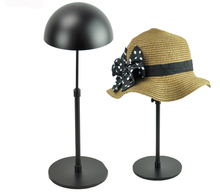 Free Shipping Adjustable Height Hat Cap Display Rack Stand Black Metal Hat Display Stand Holder 1107BLK