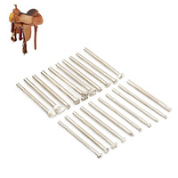 20pcs Set Leather Working Saddle Metal Making Stamp Tools Carving Leather Craft Stamps Set Craft Leather