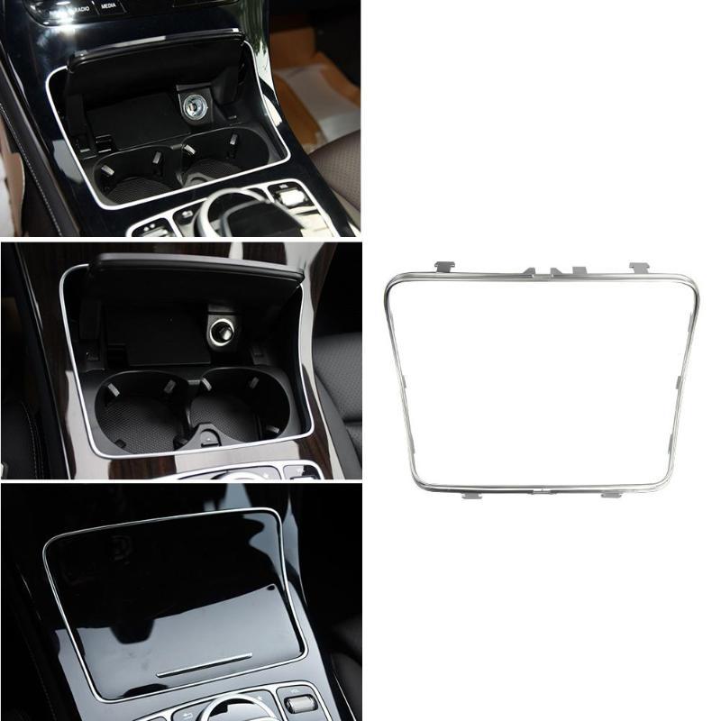 Autocollant de garniture de cadre de support de verre de voiture pour Mercedes Benz classe C W205 classe GLC W253 2015-2018 accessoires de style intérieur automatique