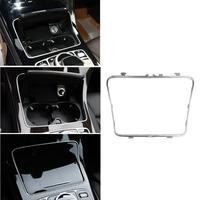 Car Cup Holder Frame Trim Sticker For Mercedes Benz C Class W205 GLC Class W253 2015 2018 Auto Interior Styling Accessories