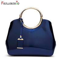 FGJLLOGJGSO Brand PU lacquer women leather handbags crossbody bags for female shoulder bag ladies hand bags messenger bag sac