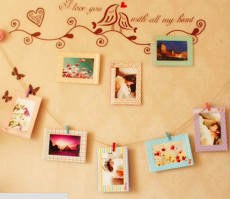 Cartoon Paper Cardboard Child Picture Frames 4x6 Inch Photo Frame ...