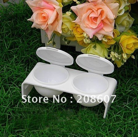 Free Shipping Manicure Tool  Nail Bowl For Acrylic Liquid Double Dish Case Dish Tray