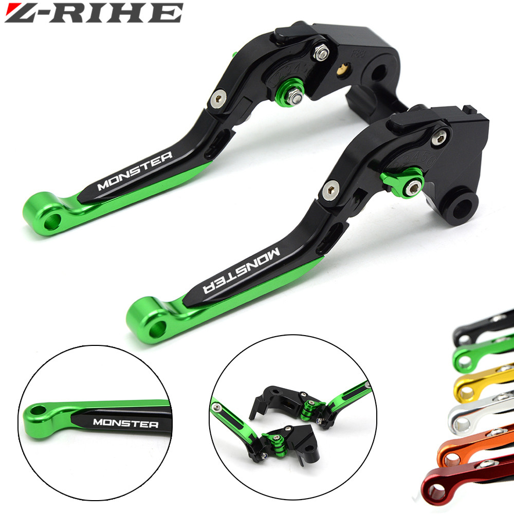 Motorcycle adjustable aluminum accessories Brake extension Folding clutch levers for ducati MONSTER M600 94-2001 M400 1999-2003 billet alu folding adjustable brake clutch levers for motoguzzi griso 850 breva 1100 norge 1200 06 2013 07 08 1200 sport stelvio