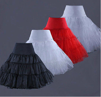 Tutus Black White Red Short Petticoat for Cocktail Dresses Crinoline Underskirt for Short Prom Dresses