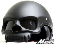 Fashion Masei skull Half Face helmet motorcycle,motorbike cascos para moto capacetes mens motorcycle helmets DOT Approved M L XL