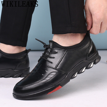 Sneakers Mens Shoes Casual Tenis Formal-Dress Genuine-Leather High-Quality Brand Masculino